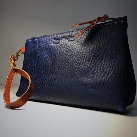 Estmere Leather Wrist Bag - Blue