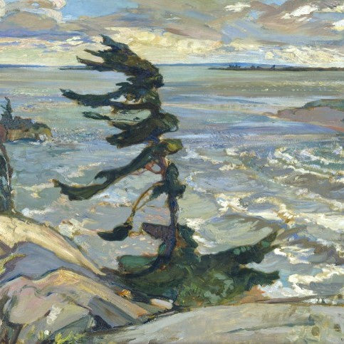 Group of Seven Matted Print - F. H. Varley - Stormy Weather Georgian Bay, 1921
