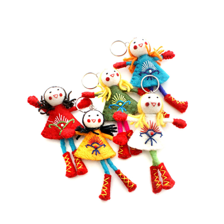 Felt Doll Key Chain - Assorted