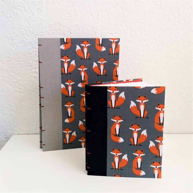 Pocket Sketch Book/Journal - Fox Fabric