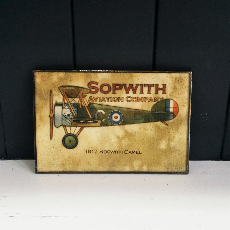 Framed print of original drawing of Sopwith Airplane by Norm Stiff