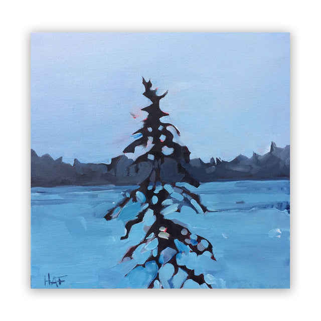 Original Painting - PINE ON BLUE
