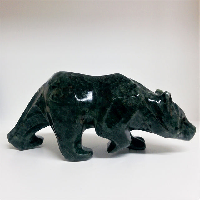 Bear Walking - Brazilian Soapstone Sculpture