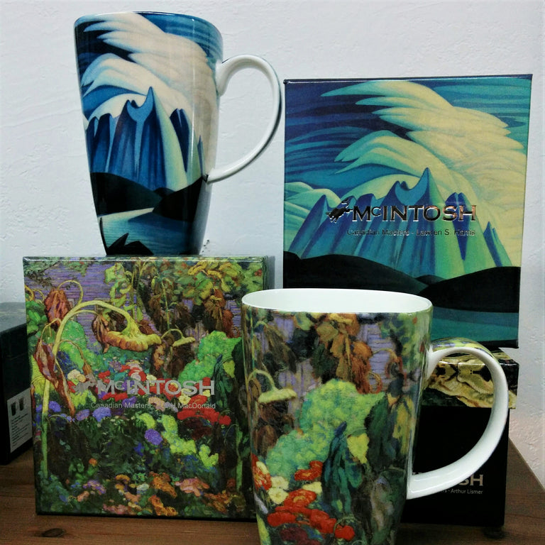 Fine Bone China Mug Grande - TANGLED GARDEN, J.E.H. MacDonald