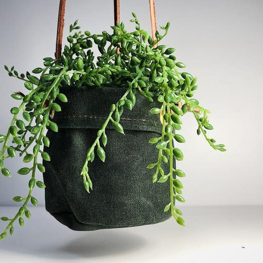 Canvas Hanging Plant Holder - small