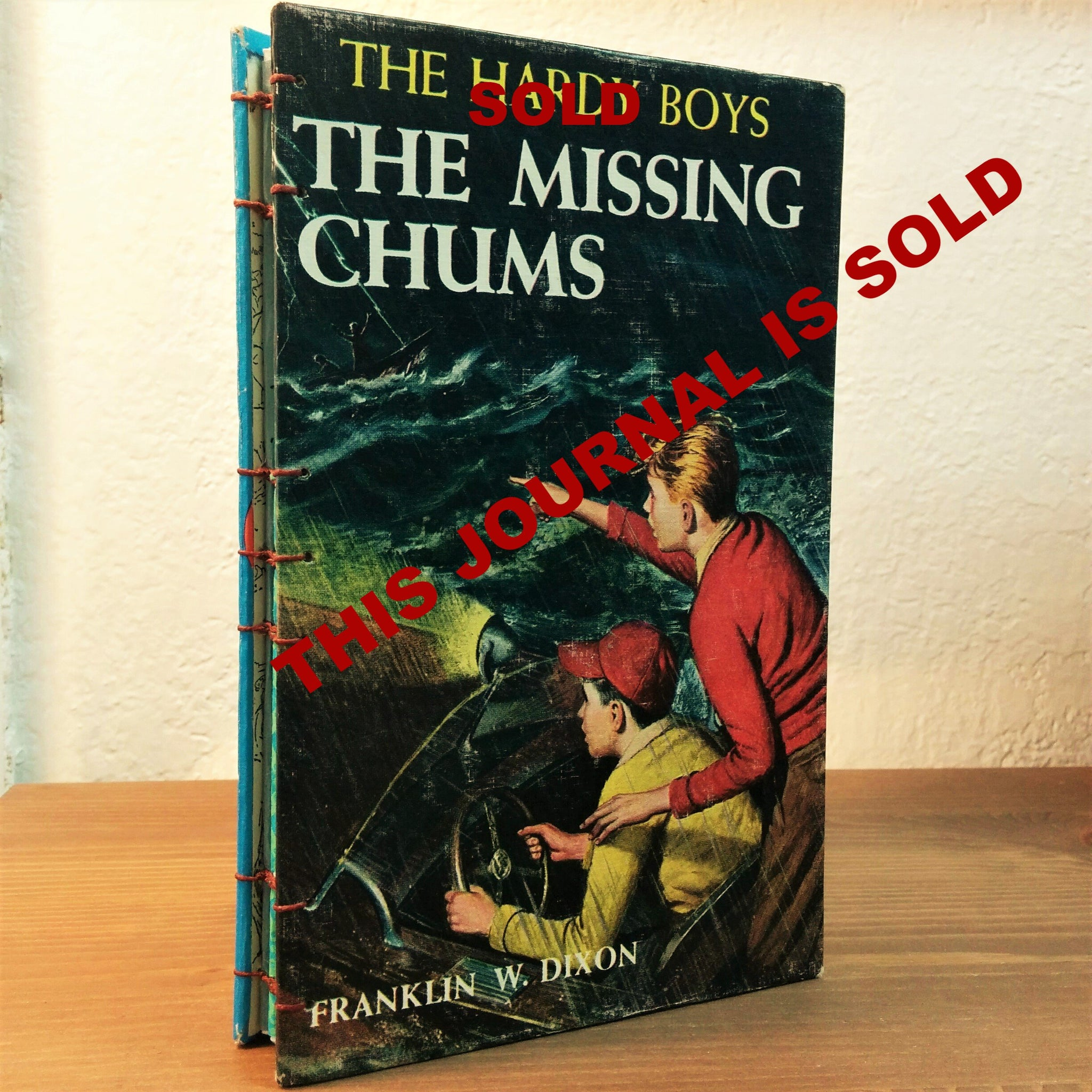 The Hardy Boys reclaimed Journal with cover The Missing Chums