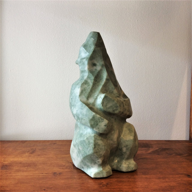 Green Quartz Sculpture - METAMORPHOSE