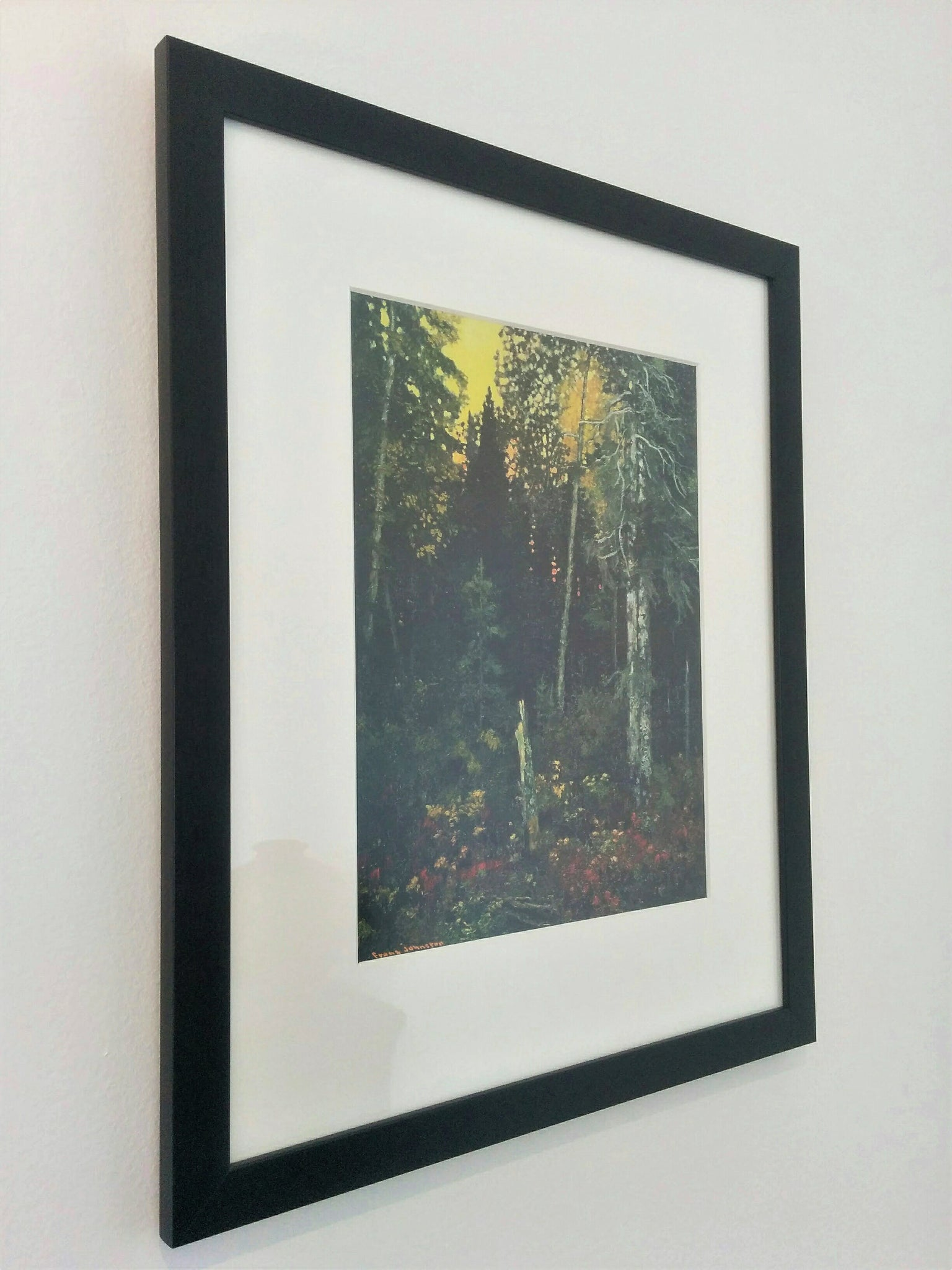 Group of Seven Framed Print - Sunset in the Bush, 1918 - Frank Johnston