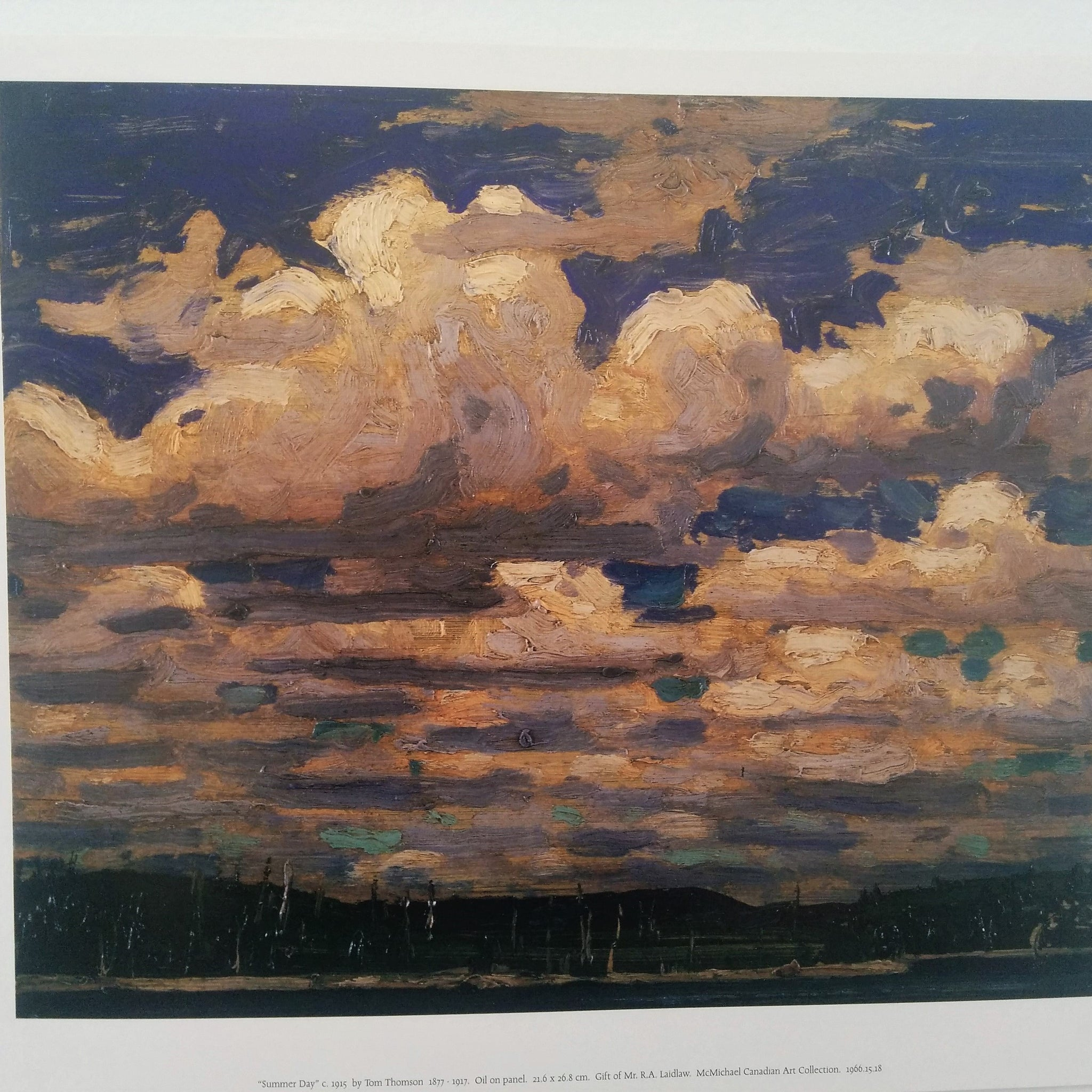 Group of Seven Matted Print - Tom Thomson - Summer Day