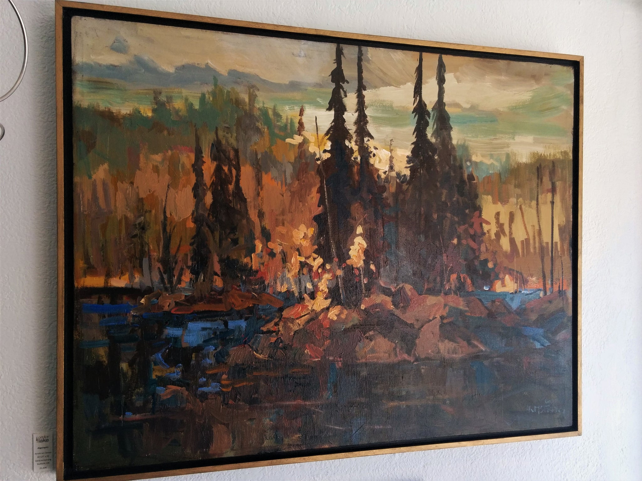 Original Painting, Acrylic on Canvas - Algonquin