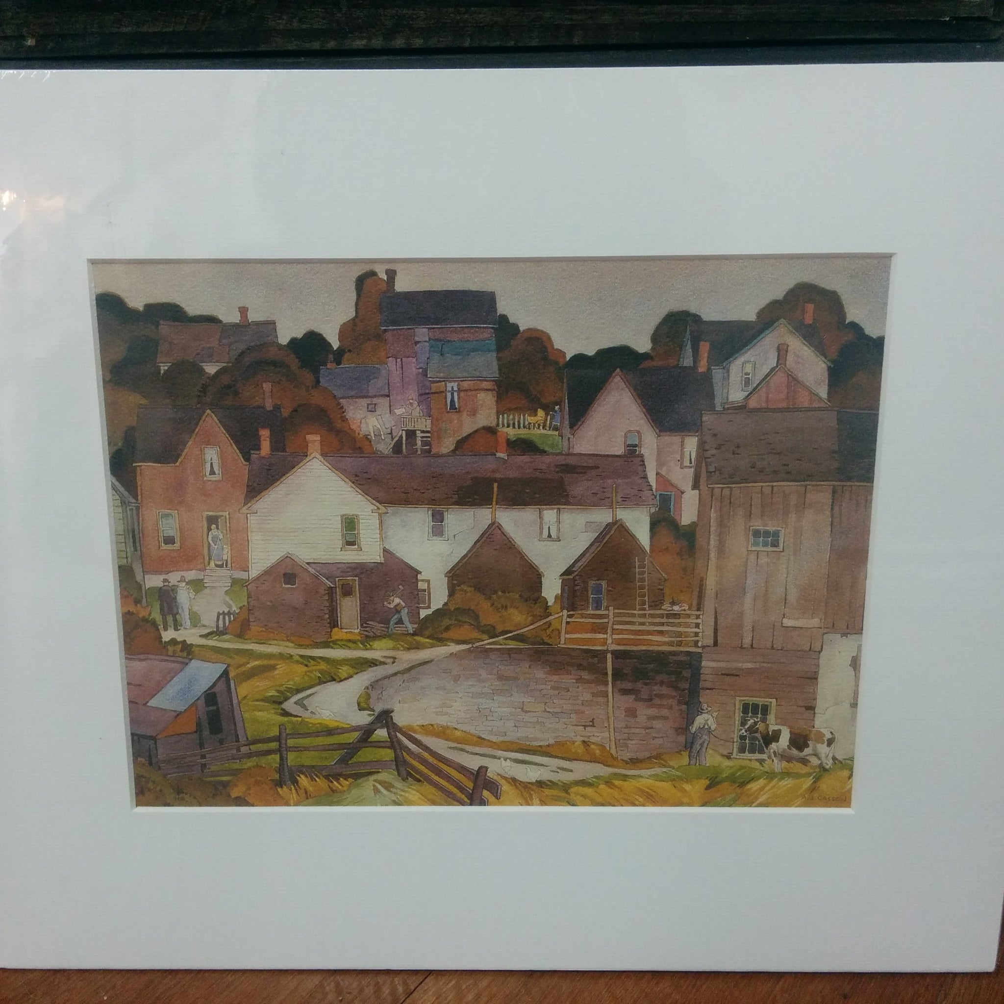 Group of Seven Matted Print - A. J. Casson - Saturday Afternoon