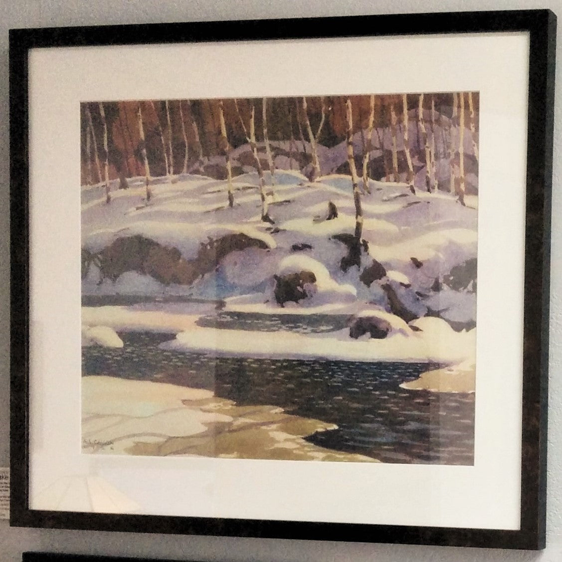 Group of Seven Large Framed Print - A. J. Casson - Winter on the Don