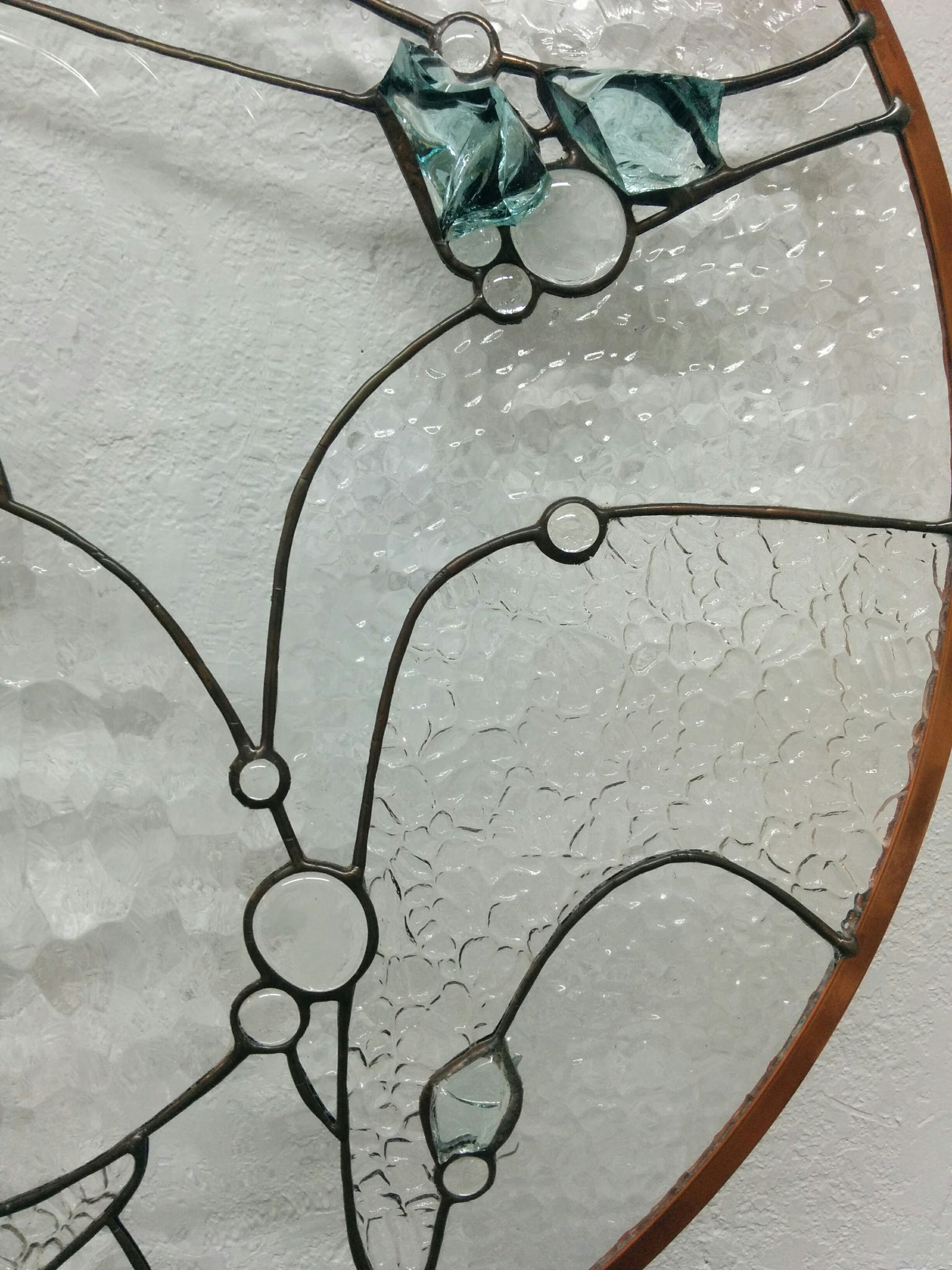 Clear and Cullet Glass Design Art Piece