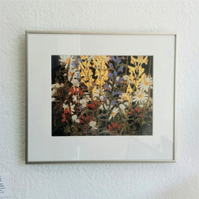 Framed Group of Seven Print - Tom Thomson - Wildflowers, 1915