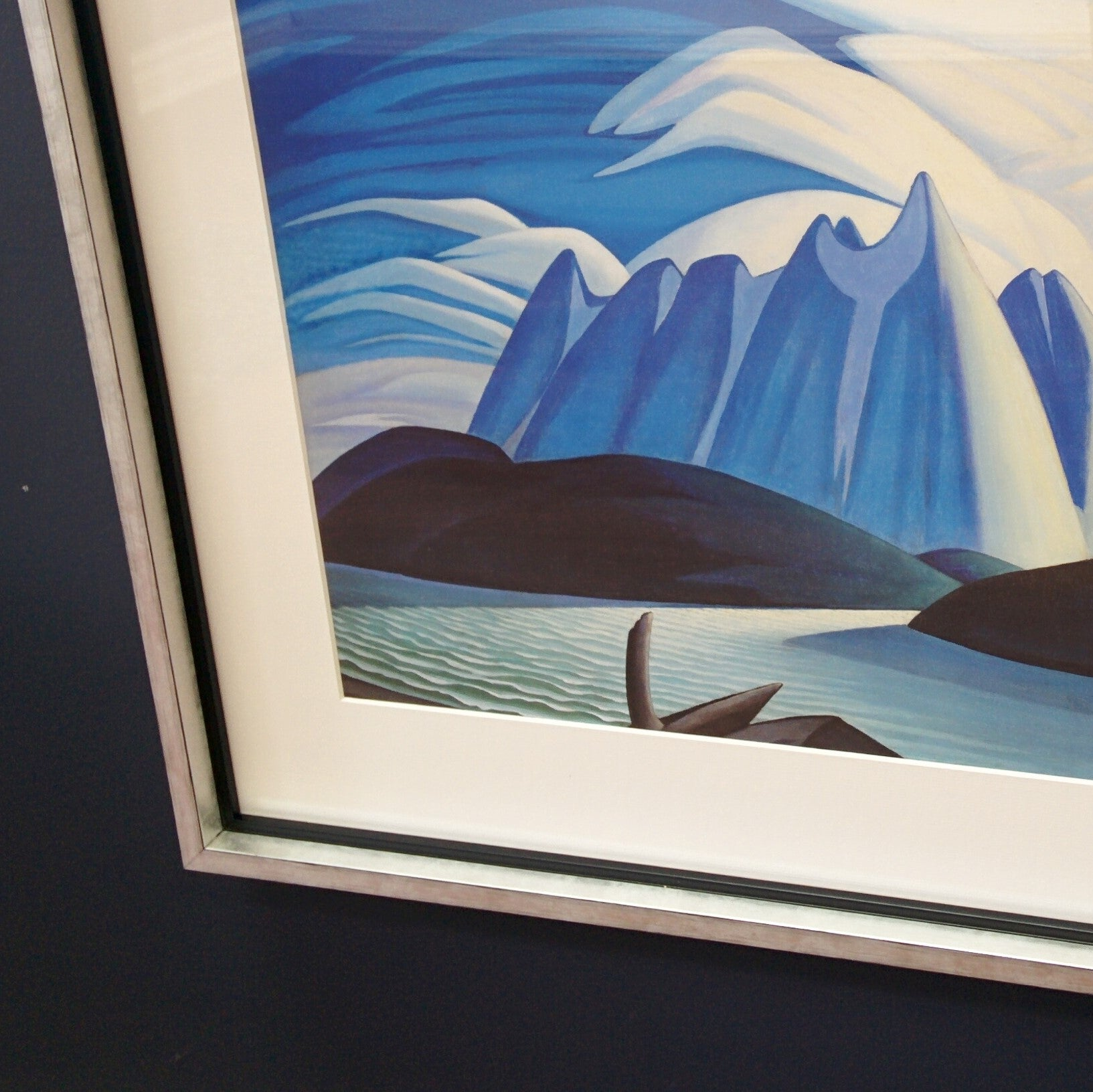 Group of Seven Large Framed Print - Lawren S. Harris - Lake and Mountains, 1928