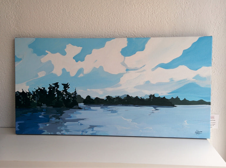 Original Painting - MOVING CLOUDS