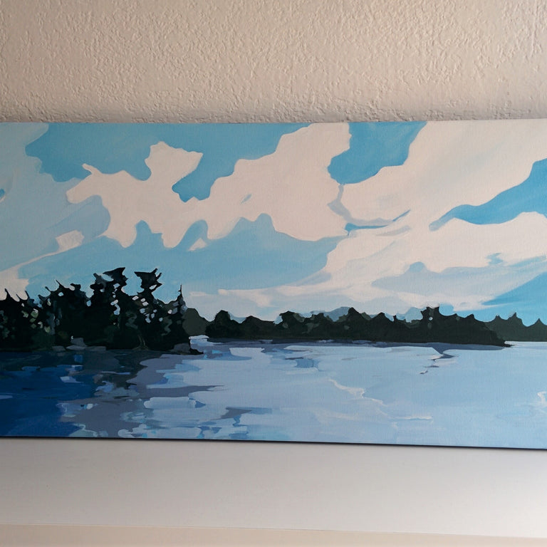 Moving Clouds - Original Acrylic on Canvas painting by Canadian Artist Holly Ann Friesen