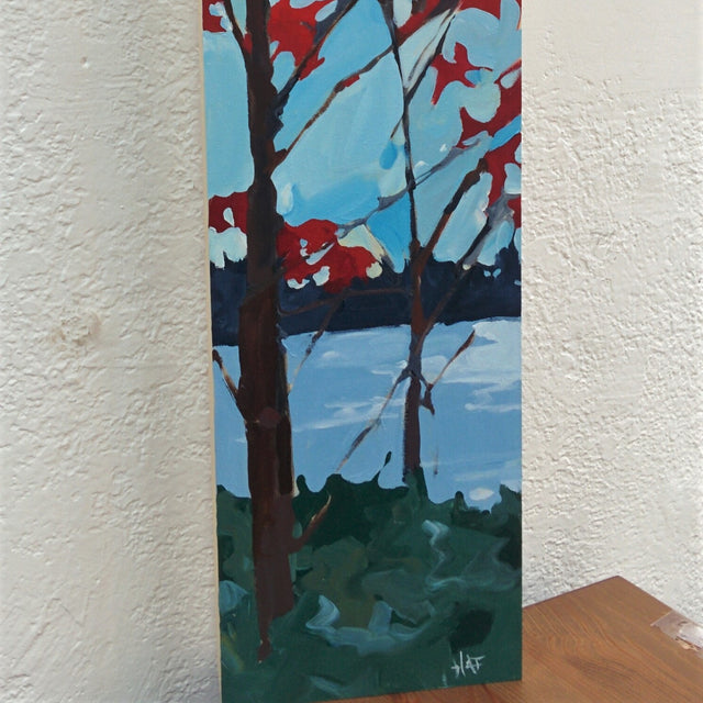Original Painting - TALL RED CANOPY 8