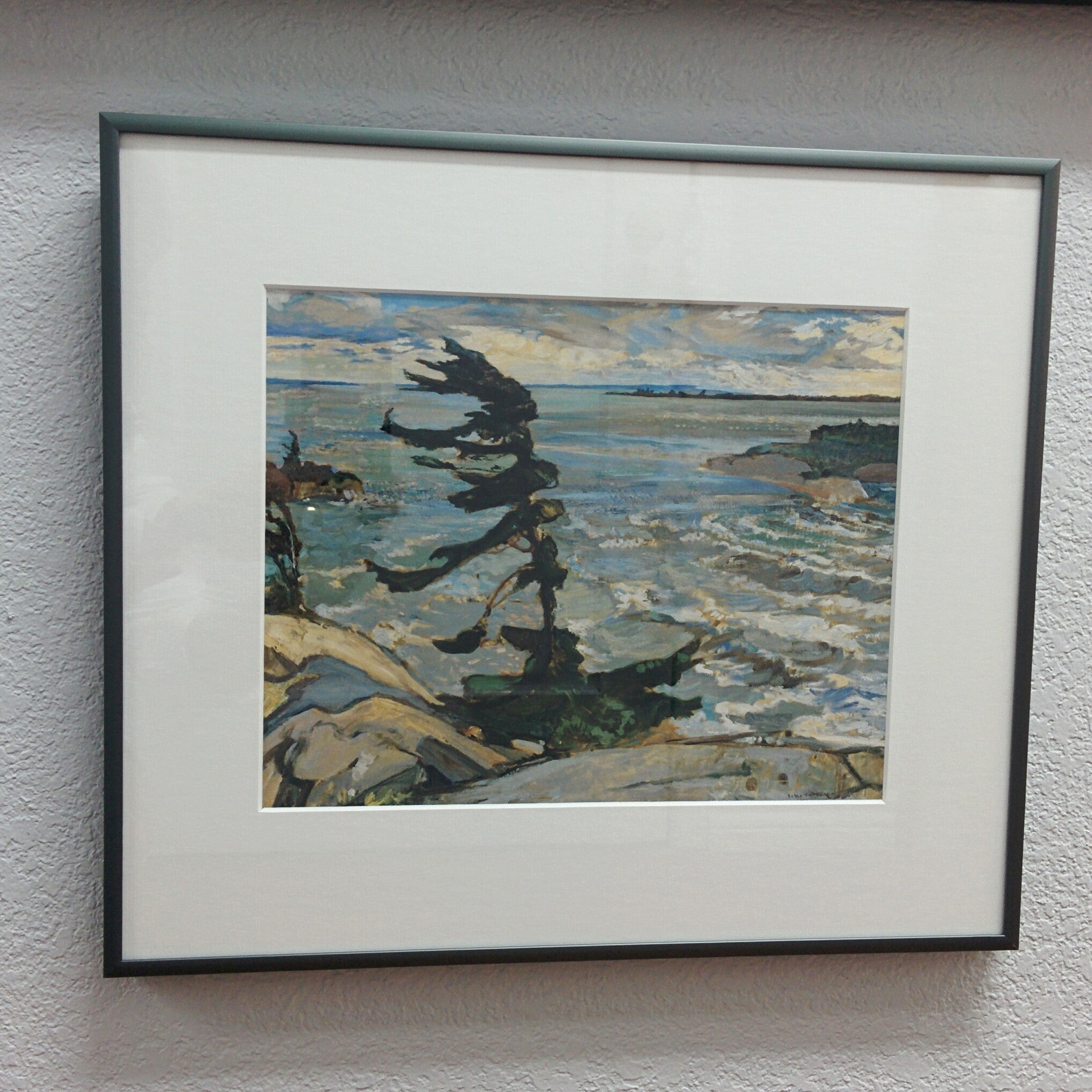 Group of Seven Framed Print - F.H. Varley - Stormy Weather, Georgian Bay, 1921