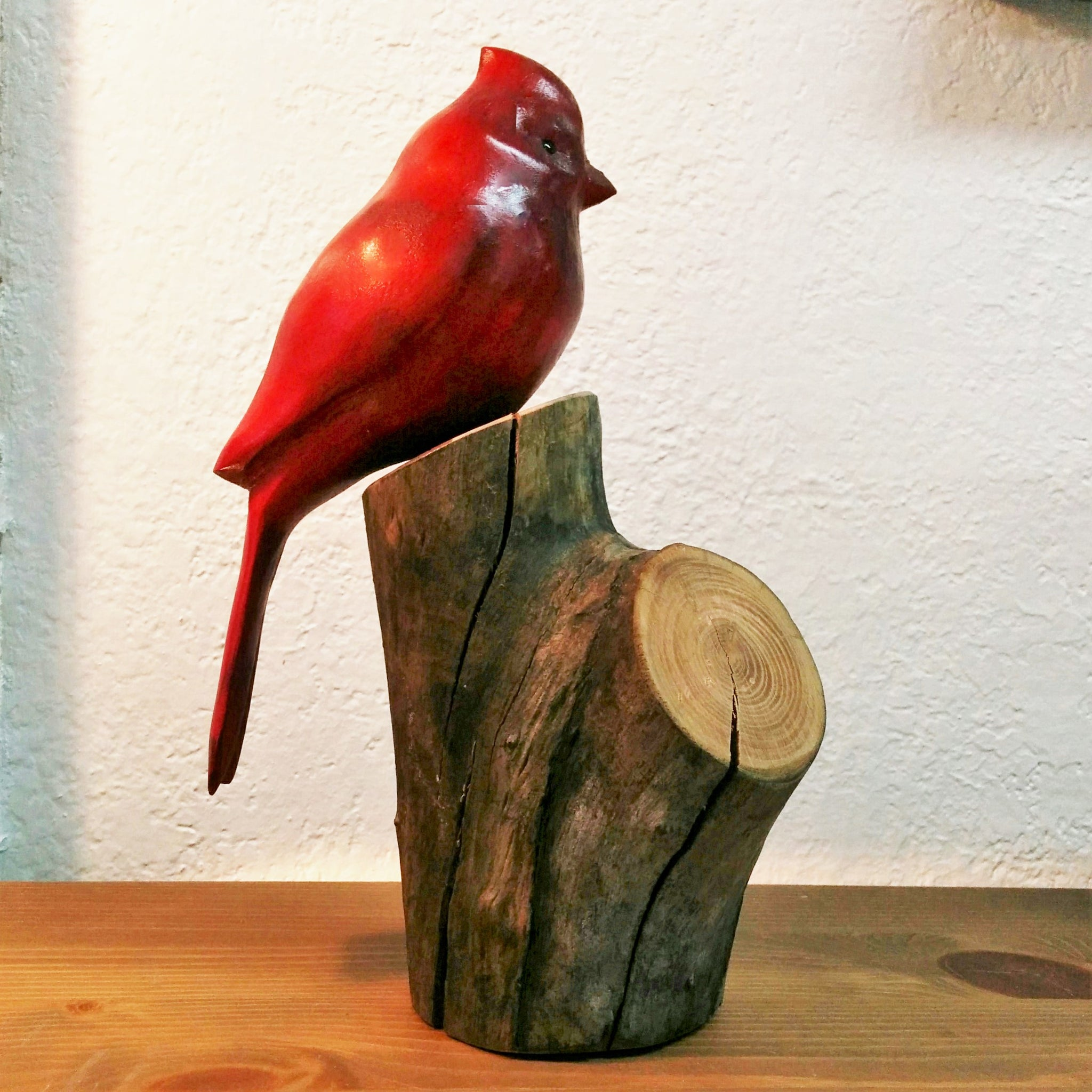 Hand Carved Red Cardinal
