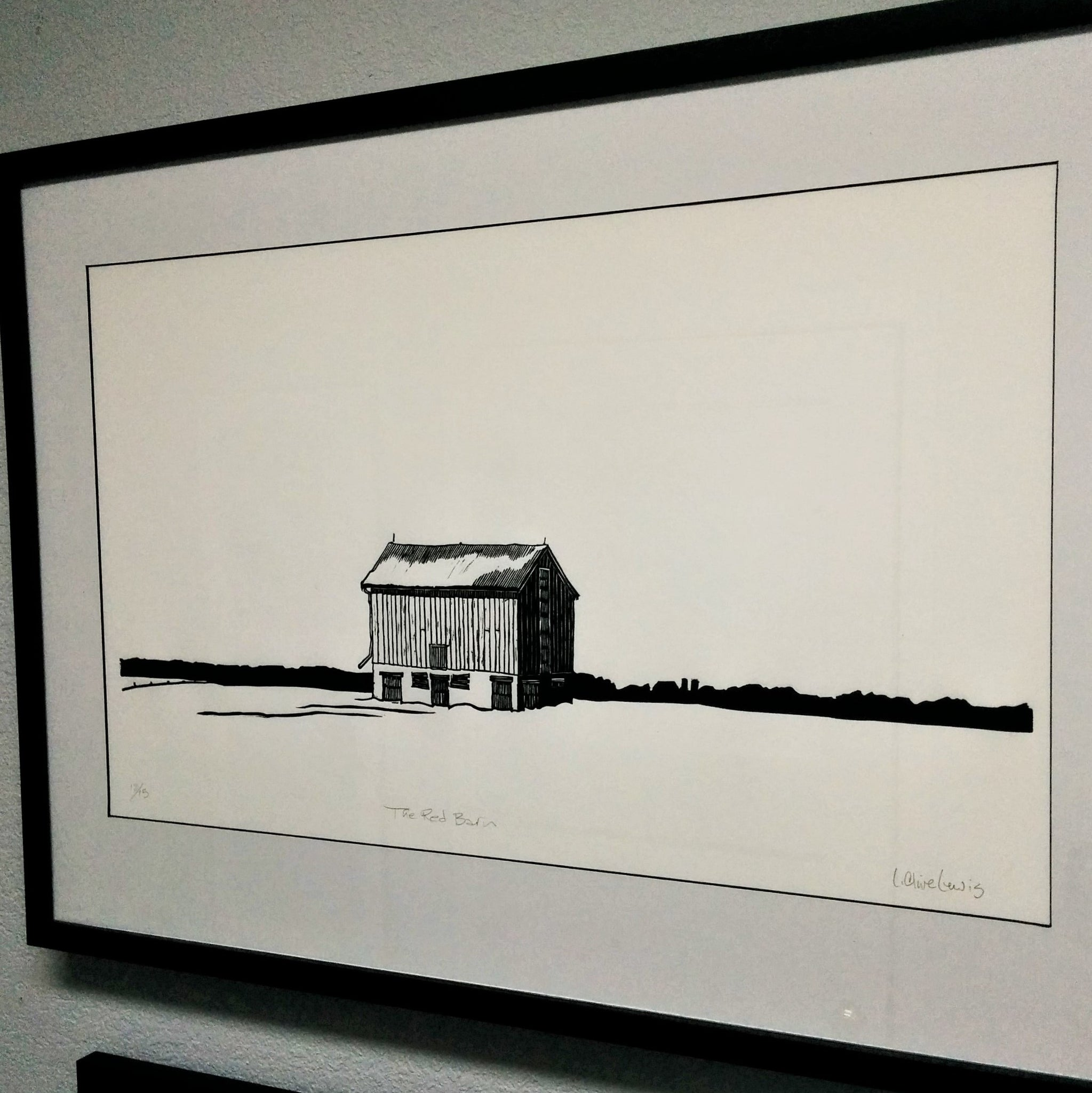 Limited Edition Engraving - THE RED BARN