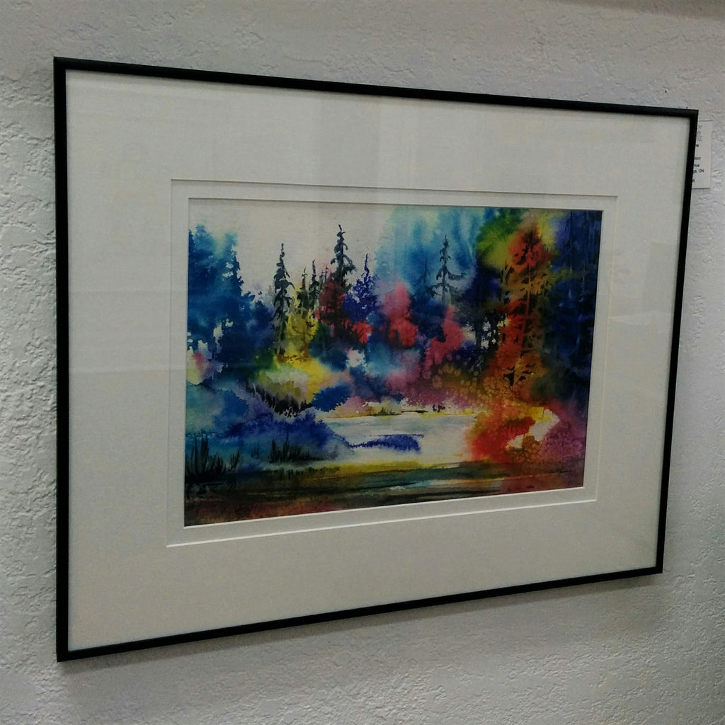 Framed Original Watercolour- ILLUSIONS