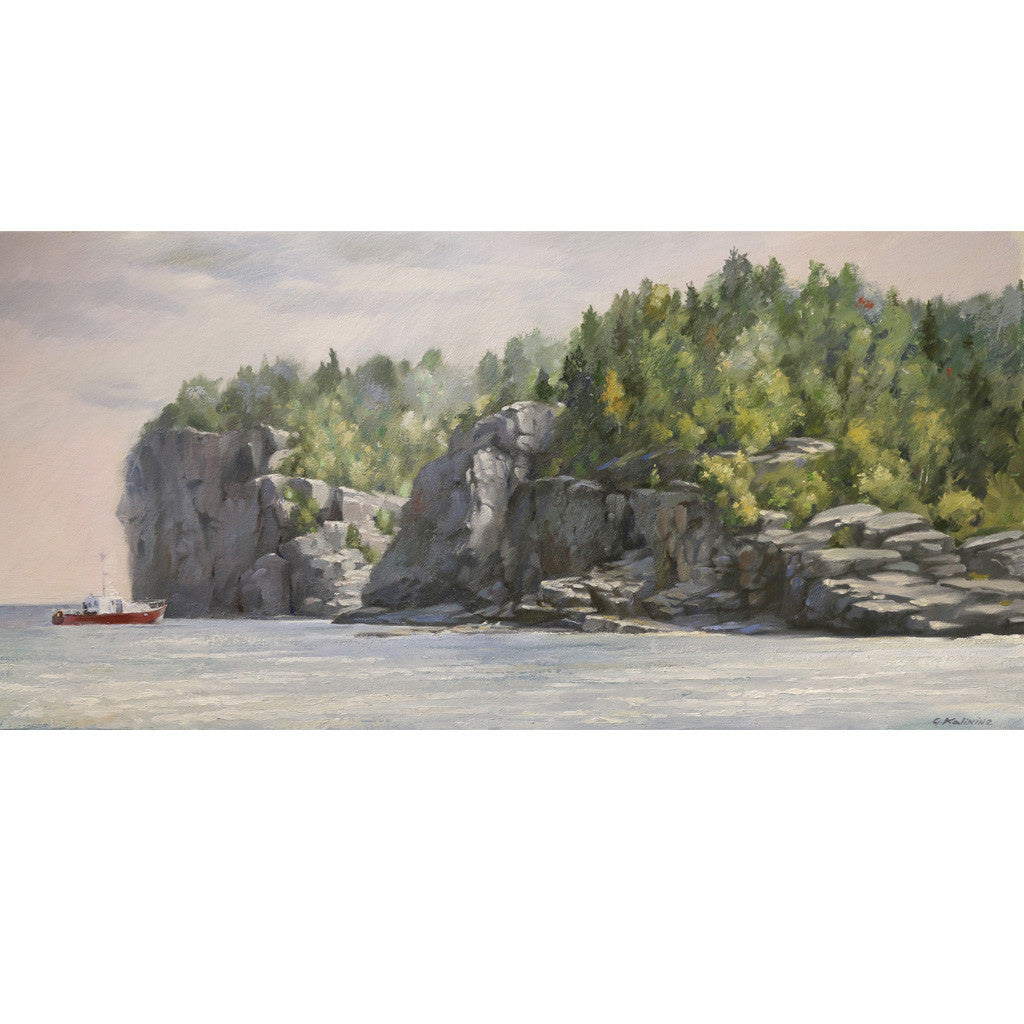 Landscape Oil Painting - Indian Head Cove, Tobermory