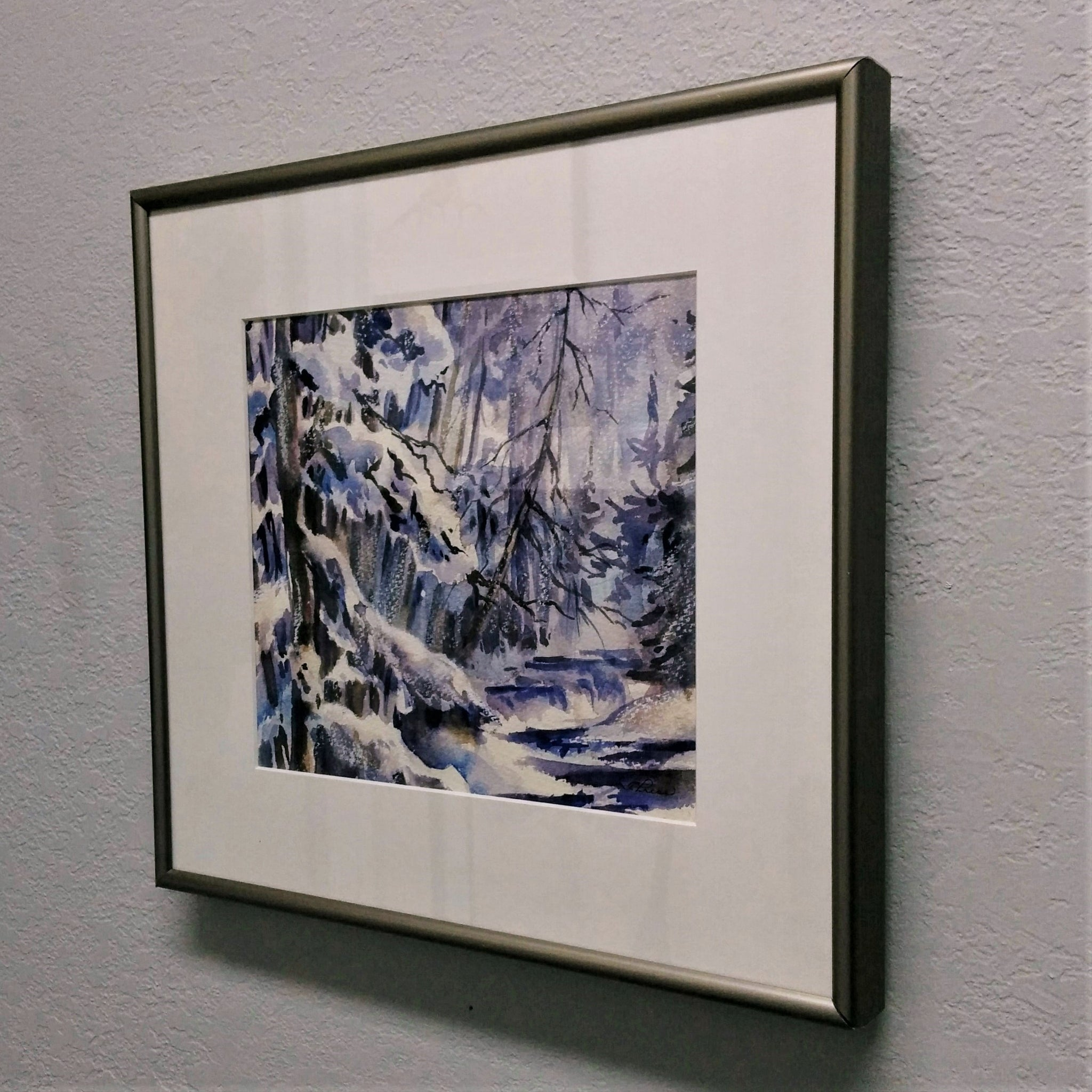Framed Original Watercolour- INDIGO DREAMS