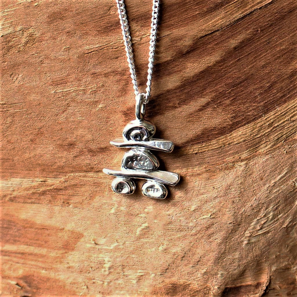 Inukshuk (petite) Sterling Silver Necklace