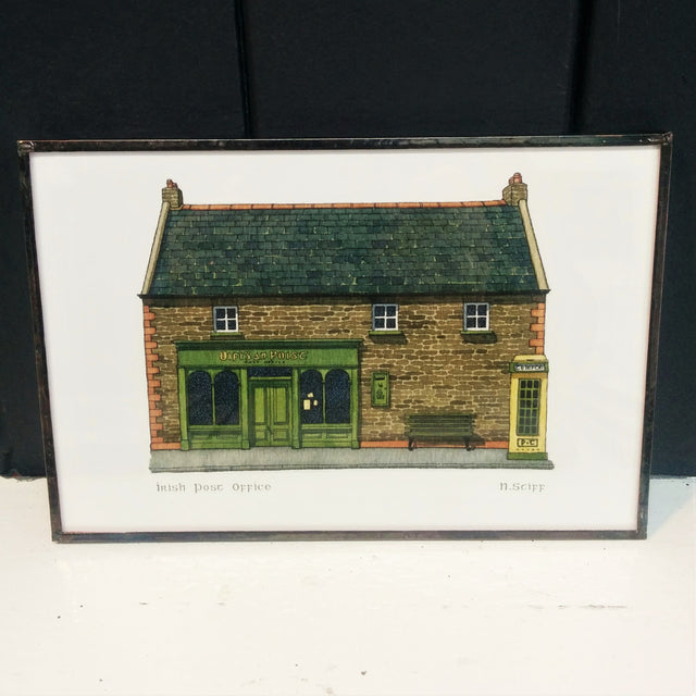Framed Irish Print - Post Office