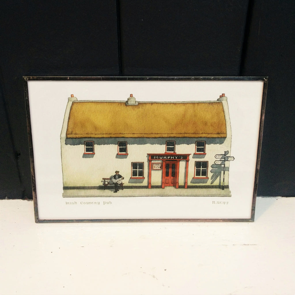 Framed Irish Print - Country Pub
