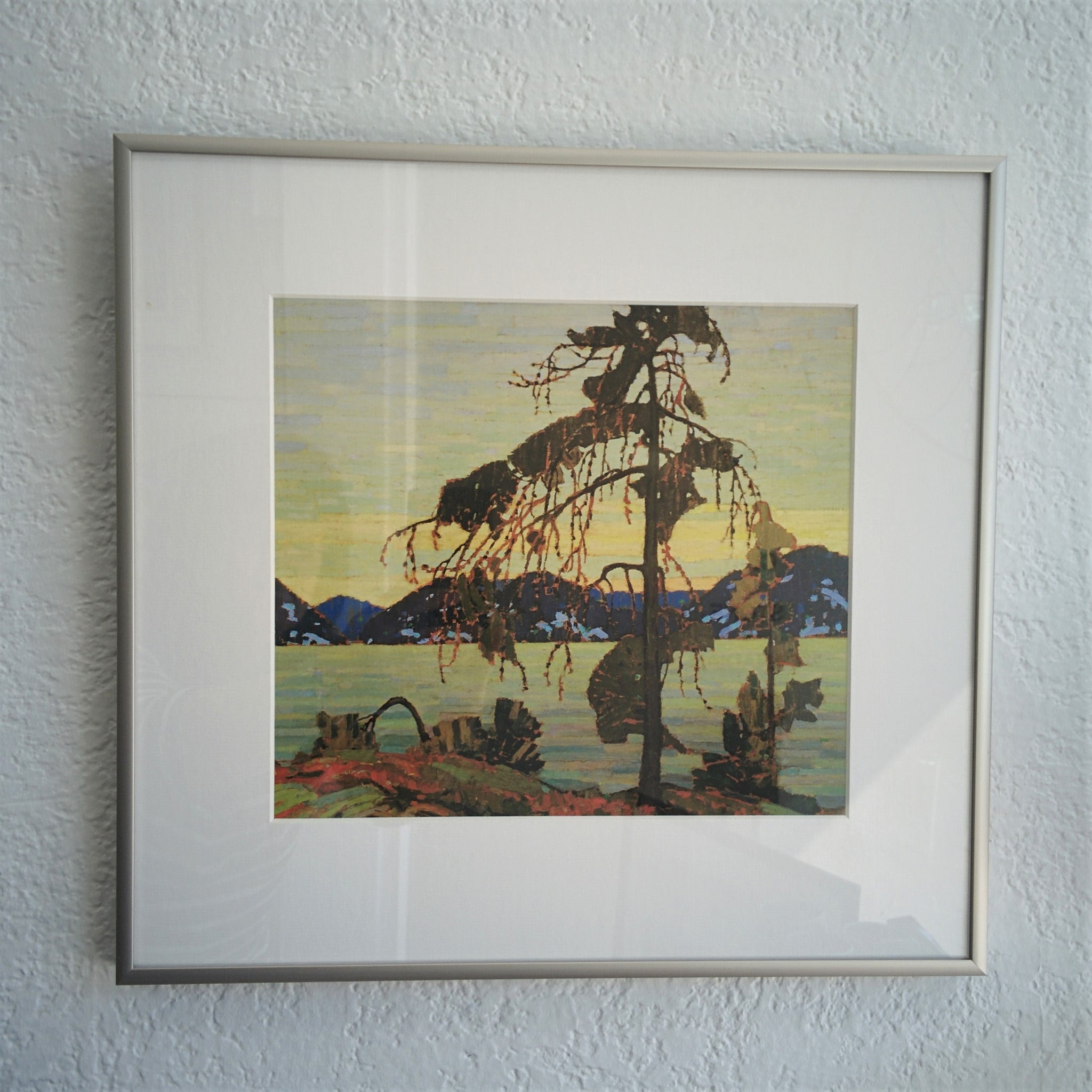 Group of Seve framed print, The Jack Pine by Tom Thomson, 1916