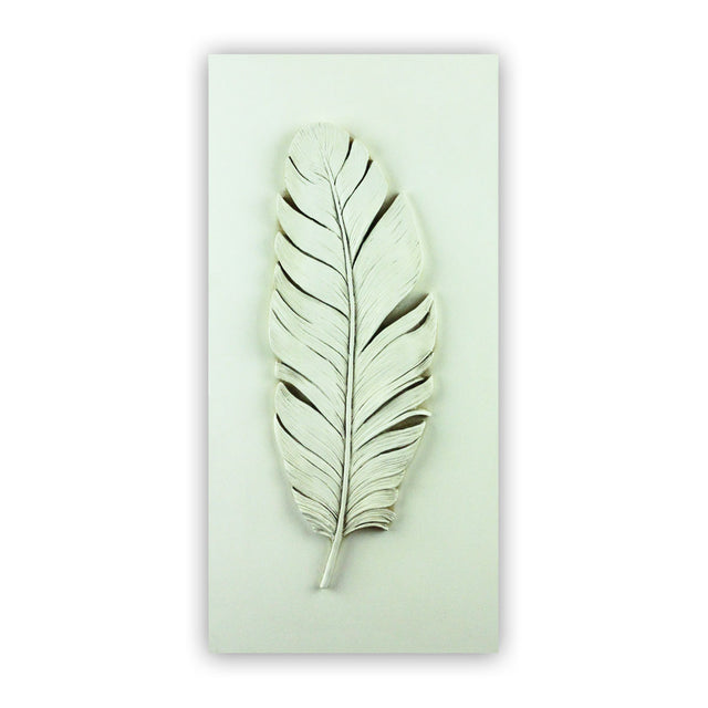 Sculpted Cast Hydrostone - FEATHER - Antique Finish