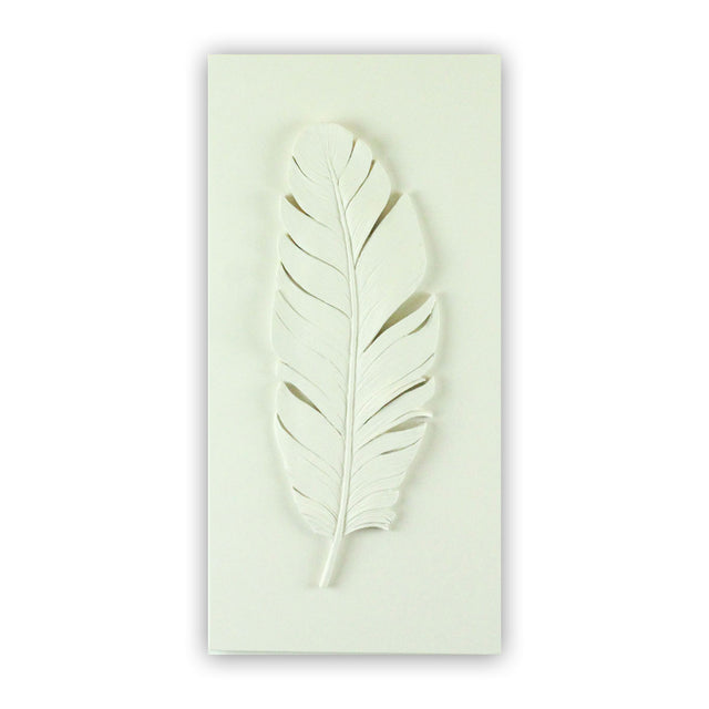 Sculpted Cast Hydrostone - FEATHER - White Finish