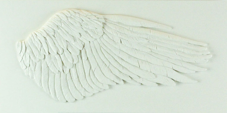 Sculpted Cast Hydrostone - WING - White Finish