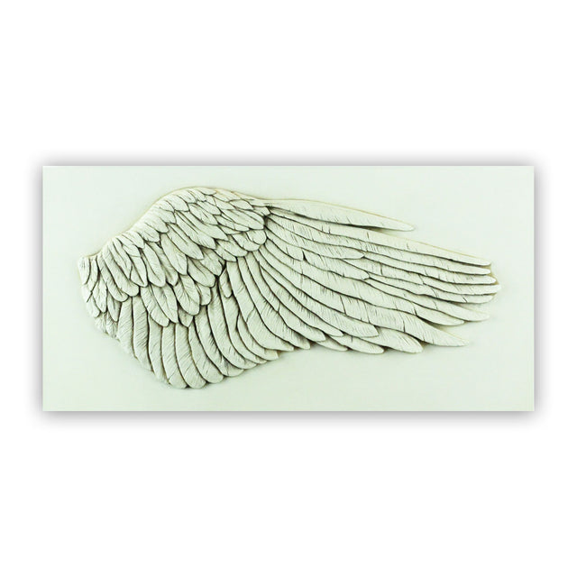 Sculpted Cast Hydrostone - WING - Antique Finish