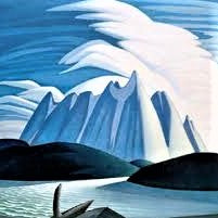 Framed Group of Seven Framed Print - Lawren S. Harris - Lake and Mountains, 1928