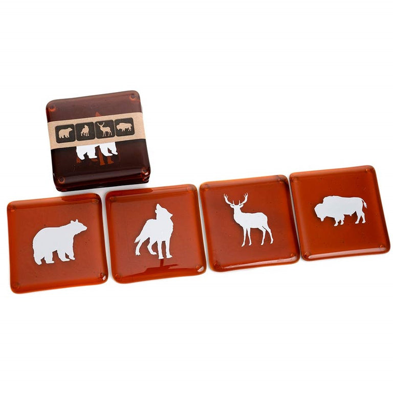 Coasters - Canadian Animals - Recycled Glass