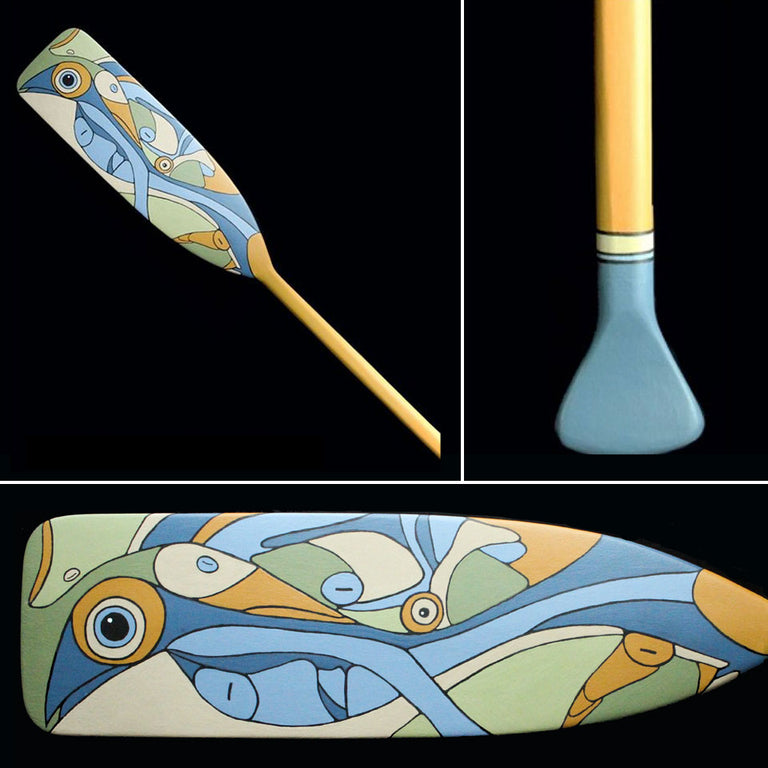 Original Painting on Paddle, LITTLE TROUT LAKE