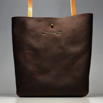 Little Bras D'or Handmade Leather Bag - Brown