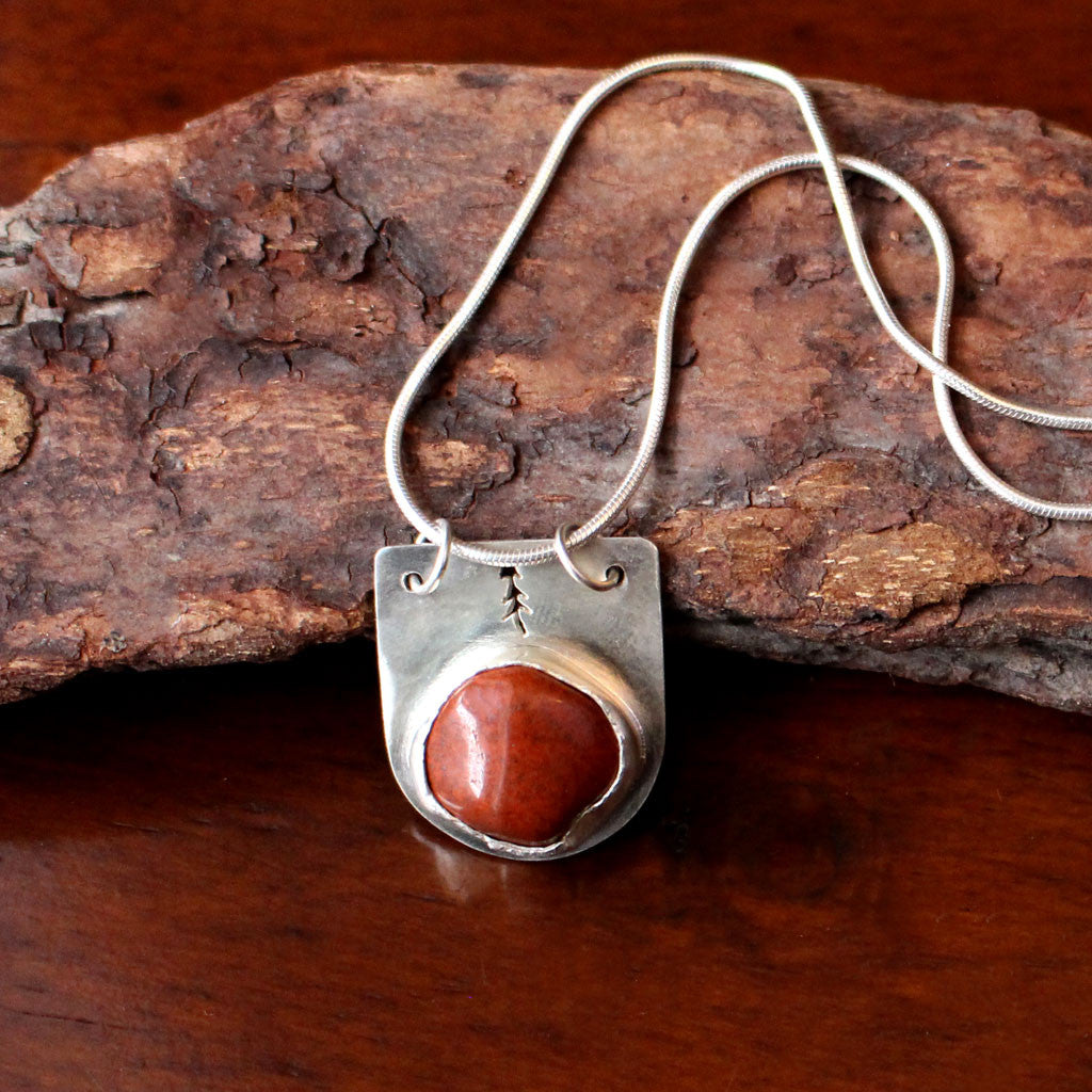 Lone Pine Necklace with Jasper Stone