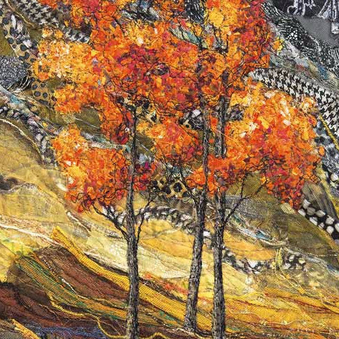 Textile Art Notecards - Quatre Saisons