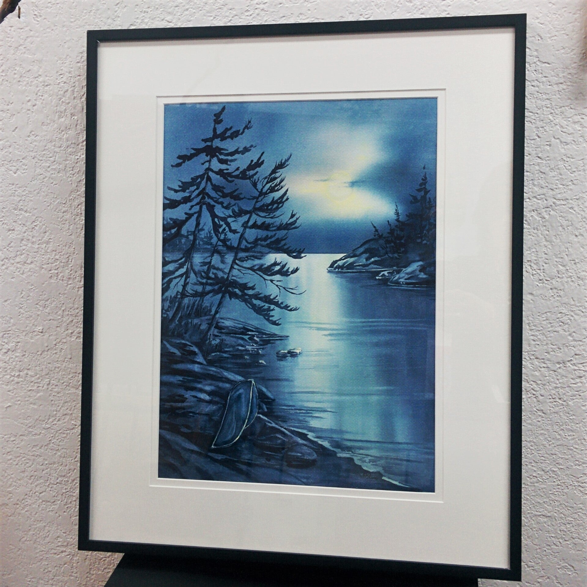 Framed Original Watercolour - MOONLIGHT SONATA
