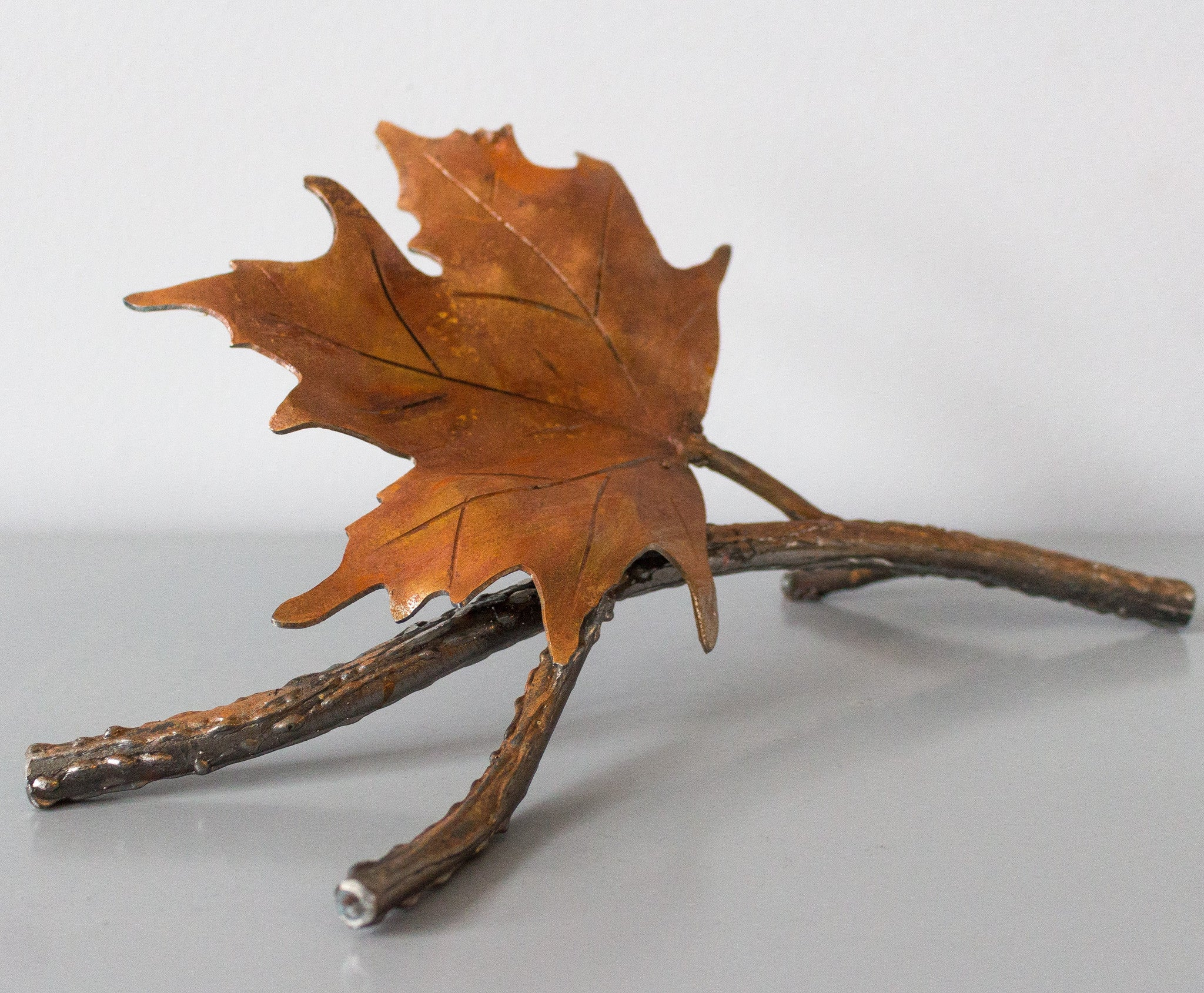 Steel Maple Leaf and Branch Sculpture for Canada's 150th