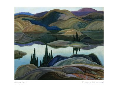 Group of Seven Matted Print - Franklin Carmichael - Mirror Lake, 1929