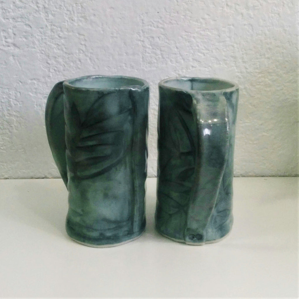 Handformed pottery mugs from Canadian clay artist Natalie Prevost