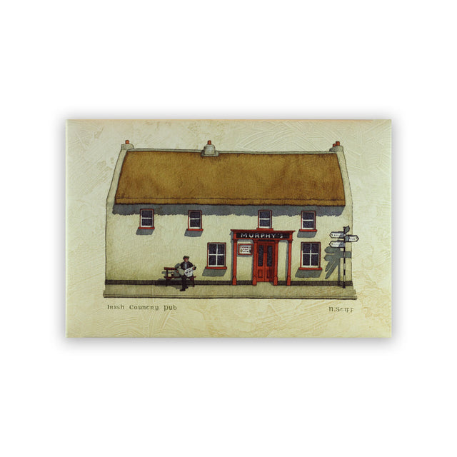 Giclee Print on Canvas - IRISH COUNTRY PUB