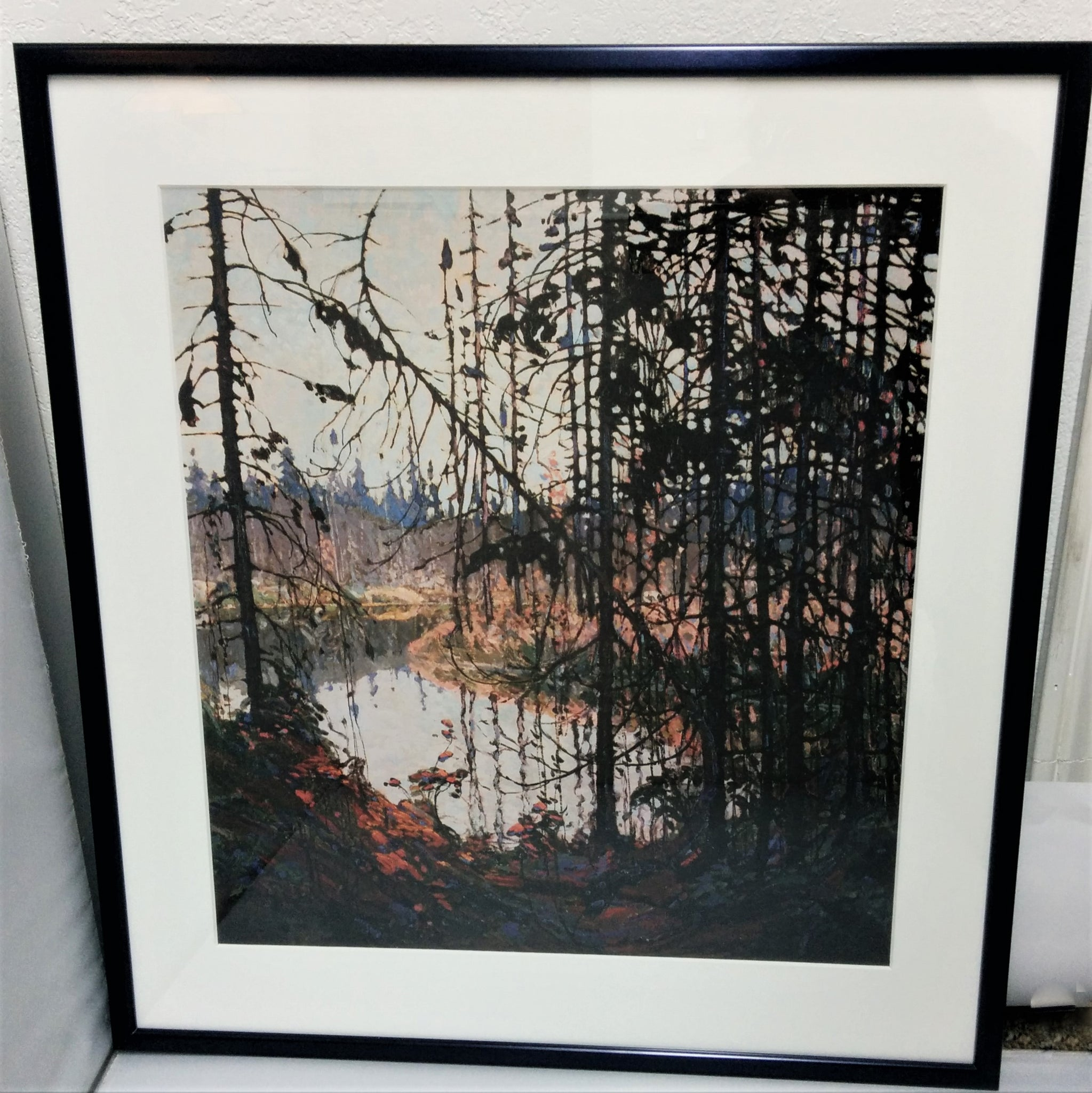 Group of Seven Large Framed Print - Tom Thomson - Northern River, 1914-15