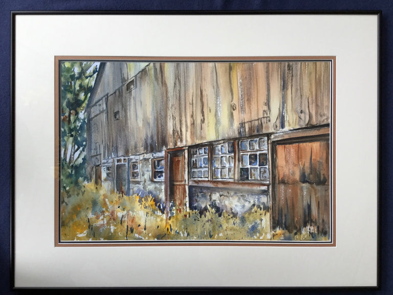Framed Original Watercolour - OF TIMES PAST