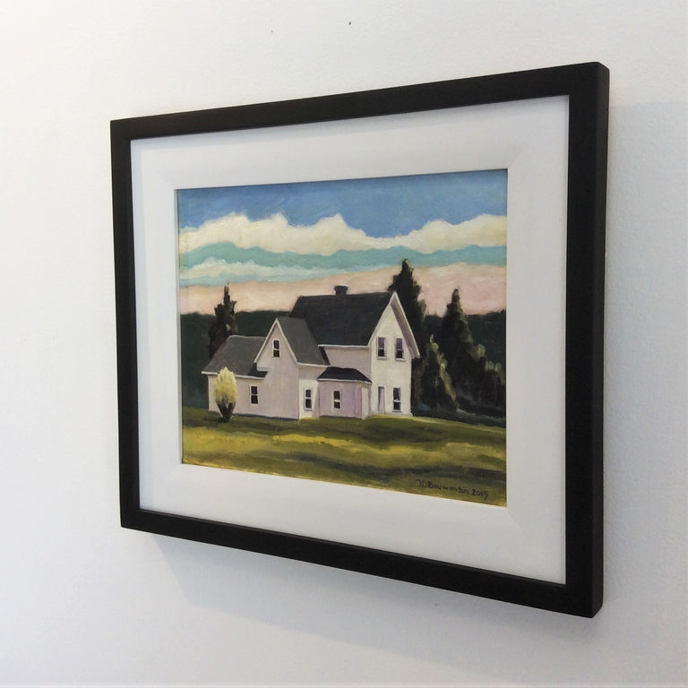 Original Oil - ON THE ROAD TO INVERNESS, NS